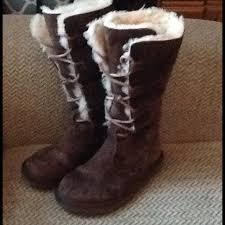 ugg boots for sale size 5 62 ugg boots ugg australia suede fur lace up boots sz 5
