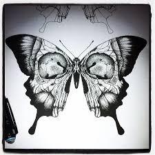 skull butterfly ideas occult occult