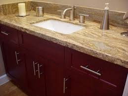 Bathroom Granite Countertops Ideas Bathroom Double Sink Vanity With Giallo Ornamental Granite For