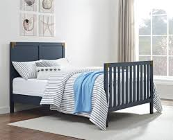 Bed Rails For Convertible Cribs by Dorel Living Monbebe Wyatt Wooden Bed Rails Graphite Blue