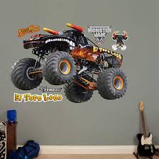 fathead monster jam el toro loco black decal wall sticker outlet