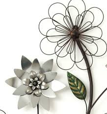 Metal Flower Wall Decor - metal wall art new wall decor silver flower branch metal wall