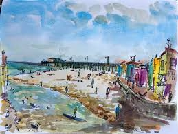 weekend at capitola beach sketch away travels with my sketchbook