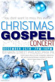 customizable design templates for church christmas concert