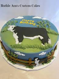 dairy cow sculpted birthday cake by kb kakes sculpted cakes