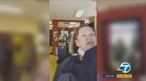 video woman attacks man complaining about haircut at escondido