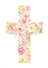 made of flowers watercolor flower cross easter cross made of