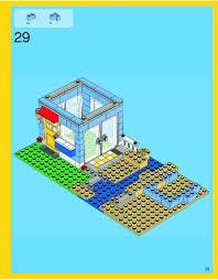 seaside house plans lego seaside house instructions 7346 creator