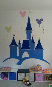 disney wall mural hand painted in my baby girls nursery disney playroom mural for our little princess