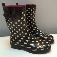 cheap boots for womens size 9 merona s size 9 rubber multi color polka dot boots