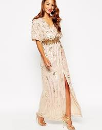 Holographic Clothing For Sale Asos Red Carpet Kimono Holographic Sequin Maxi Dress In Metallic