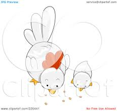 Designerk Hen Royalty Free Rf Clipart Illustration Of A White Hen And