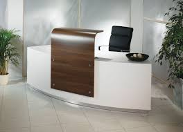 Stone Reception Desk Compact Solid Surface Reception Desk With A Featured Central