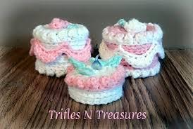 no bake treasure cakes free crochet pattern trifles u0026 treasures