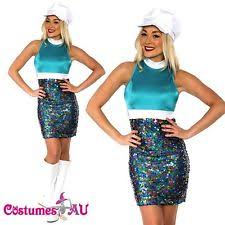 ladies 60s 70s retro hippie go go disco costume fancy dress