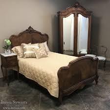 19th century french walnut louis xv queen bedroom set inessa