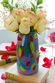 Stained Glass Vase Diy Stained Glass Vase Inspired By Beauty And The Beast C U0027mon