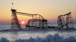 the roller coaster that dumped into the is being torn