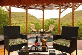 private veranda with jacuzzi and stunning vista at shamwari