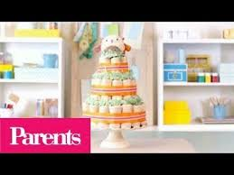 baby shower ideas how to make a diaper cake parents youtube