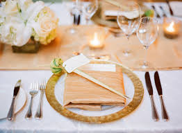 table setting pictures gold and champagne reception table setting elizabeth anne