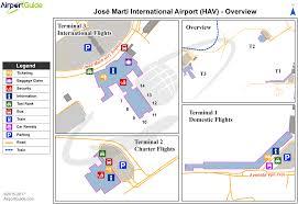 Havana On Map Havana José Martí International Hav Airport Terminal Maps
