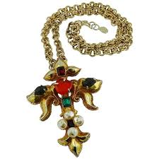 vintage cross necklace images Christian lacroix vintage runway jewelled cross necklace for sale jpg