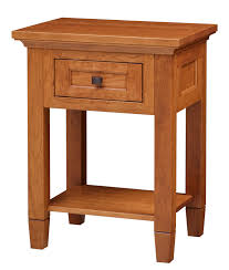 Nightstand With Drawer Bedroom Furniture Amish Custom Furniture