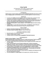 download customer quality engineer sample resume