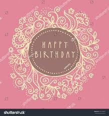 dirty pink happy birthday shabby chic stock illustration 284178563