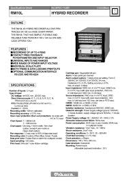 rm10l hybrid recorder ohkura electric pdf catalogue