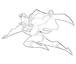 superman cartoon pictures kids coloring