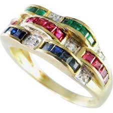 ruby rings designs images Bellarri ruby emerald sapphire diamond 14k ring natural stackable jpg