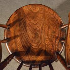 Victorian Armchair Antique Elm Windsor Elbow Chair Quality Kitchen Dining Victorian