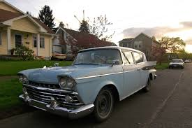 rambler car old parked cars 1959 rambler six super sedan