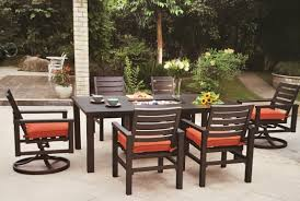 Patio Furniture Sets With Fire Pit by Hanamint Sherwood Fire Pit Dining Table All Things Barbecue