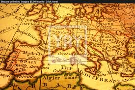 Map Mediterranean Old Map Of Europe And Mediterranean Image Yayimages Com