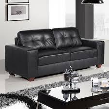 Leather Sofa Suite Deals Strada Black Leather Sofa Suite Collection