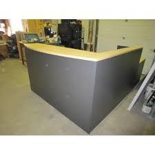 Global Reception Desk Global Grey Blonde L Shape Reception Desk W Transaction Counter