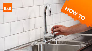 how to change a kitchen faucet how to replace a kitchen tap part 3 fixing your new tap youtube