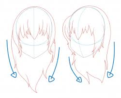 how to draw hair step by step anime hair anime draw