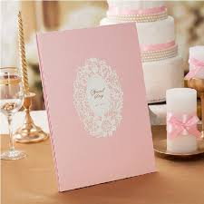 aliexpress buy lovely pink wedding guest book 5 pages