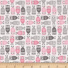 kaufman urban zoologie mini owls pink discount designer fabric