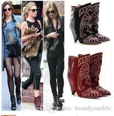 womens boots in style 2017 2017 fashion style boots berry embroidered leather
