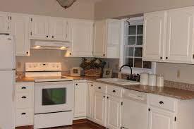 Paint Kitchen Cabinets White Painting Oak Cabinets Cream