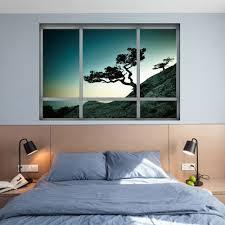 3d Wall Decor by Landscape Window 3d Wall Decor Sticker In Blackish Green 48 5