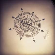 compass tattoo sketch art on instagram