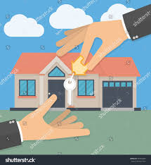 real estate agent hand giving house stock vector 397004083