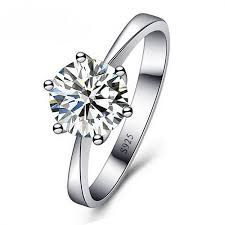 silver rings with images Jexxi romantic wedding rings jewelry cubic zirconia ring for women jpeg