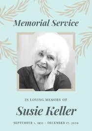 memorial service programs funeral funeral templates canva